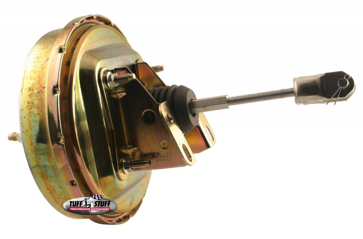 Tuff Stuff Performance - Power Brake Booster Univ. 9 in. Single Diaphragm Incl. 3/8 in.-16 Mtg. Studs And Nuts Fits Hot Rods/Customs/Muscle Cars Gold Zinc 2226NB