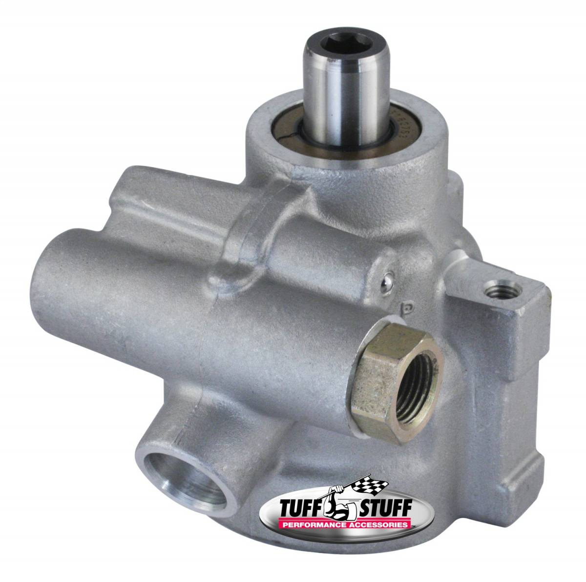 Tuff Stuff Performance - Type II Alum. Power Steering Pump GM LS Stock Replacement For 1998-2002 Camaro And Firebirds Alum For Street Rods/Custom Vehicles w/Limited Engine Space Factory Cast PLUS+ 6175AL-6