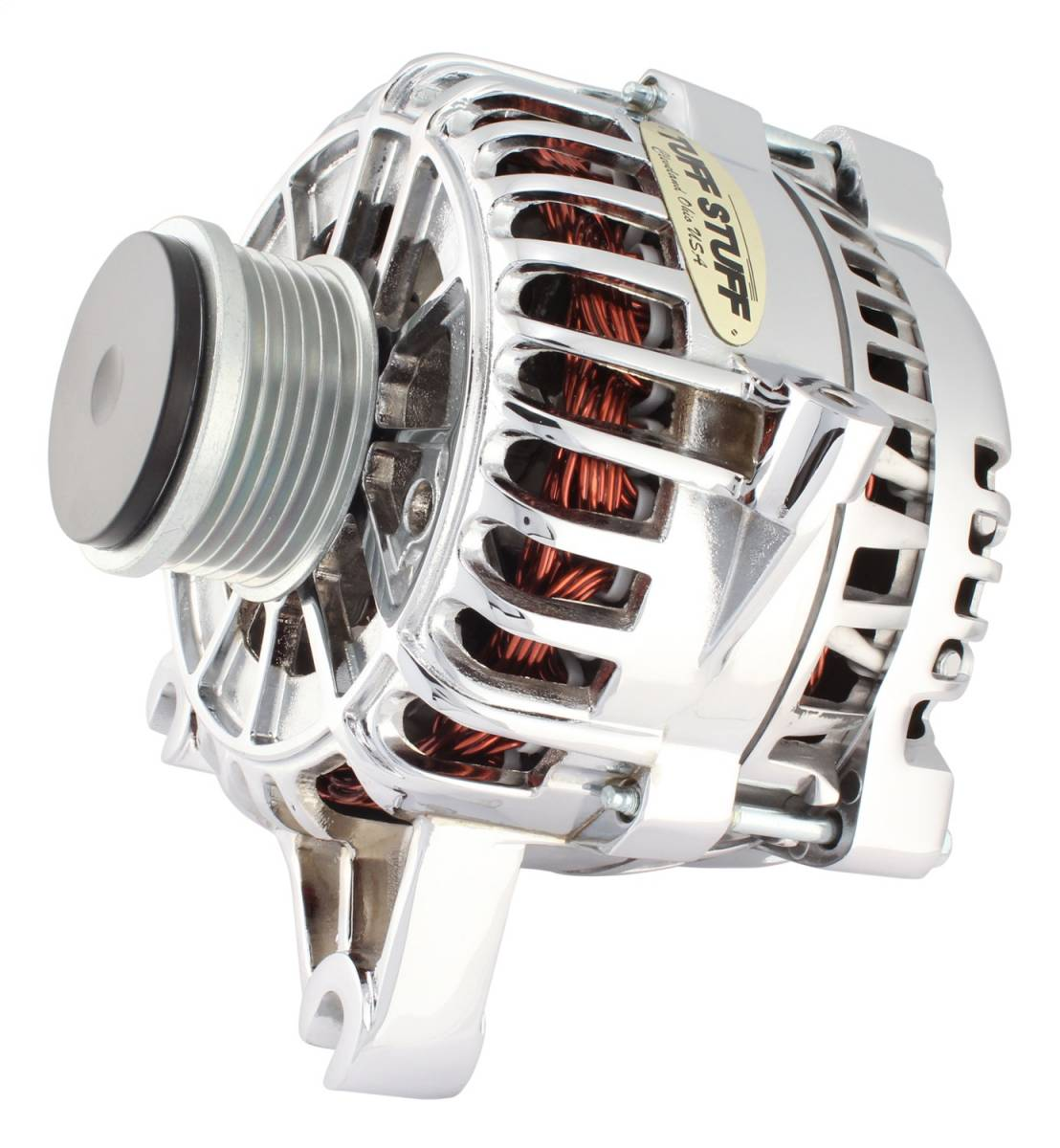 Tuff Stuff Performance - Alternator 225 AMP OEM Wire 6 Groove Clutch Pulley Chrome Roush Supercharger 8438DSC