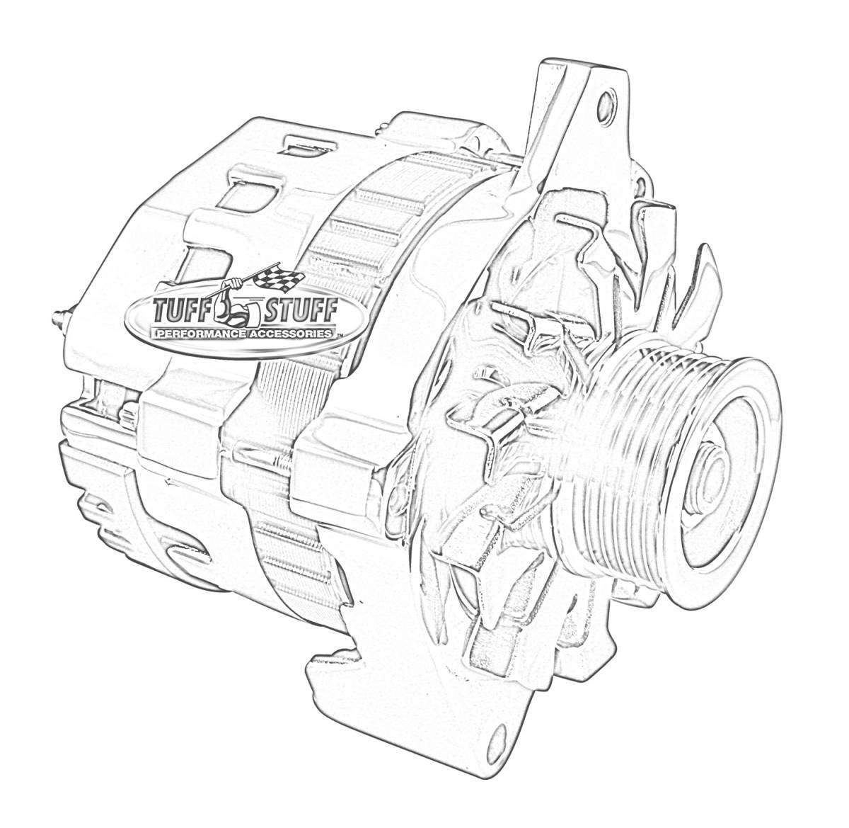 Mini Starter Wiring Hook Up Trusted Diagrams Chevy Alternator 7937b6g Tuff Stuff Performance Accessories Diagram