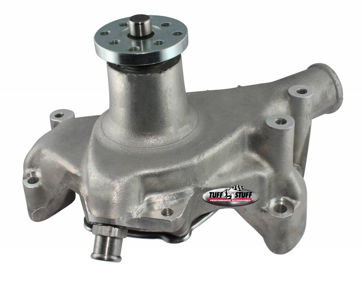 Tuff Stuff Performance - Platinum SuperCool Water Pump 6.937 in. Hub Height 5/8 in. Pilot Long Reverse Rotation Aluminum Casting Factory Cast PLUS+ For Custom Serpentine Systems Only 1511NCREV