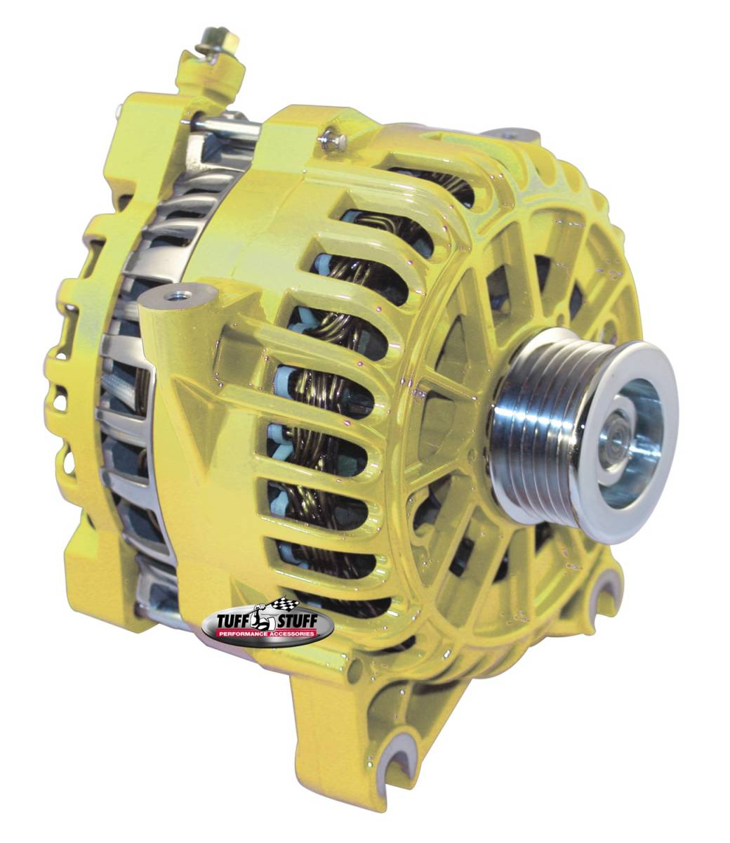 Tuff Stuff Performance - Alternator; 135 AMP; OEM Wire; 6 Groove Pulley; Yellow; 8252AYELLOW