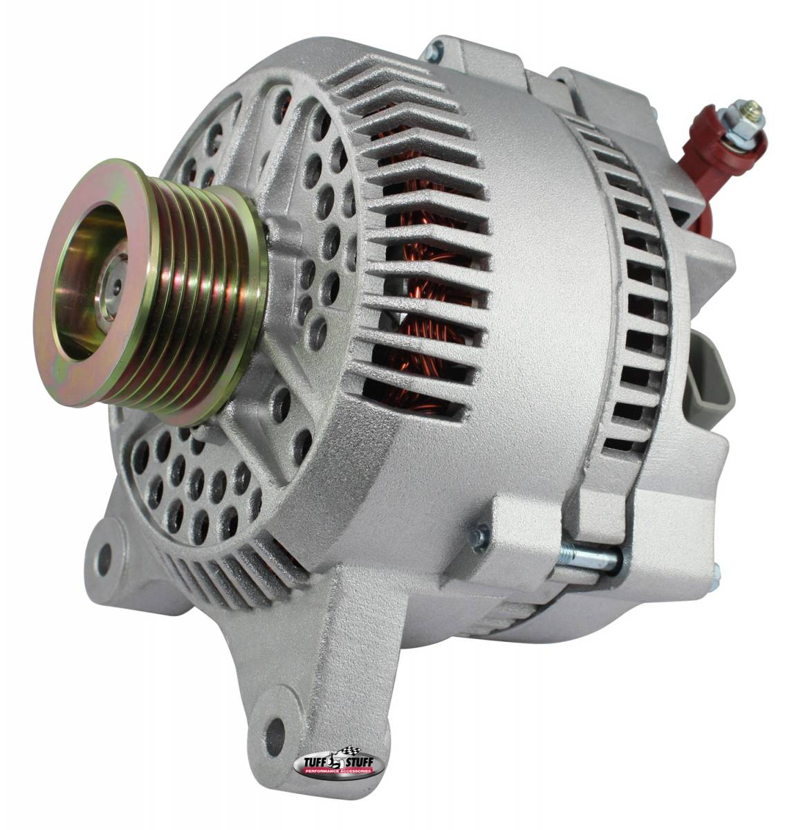 Tuff Stuff Performance - Alternator; 150 AMP; OEM Wire; 7 Groove Pulley; Internal Regulator; Factory Cast PLUS+; 7764