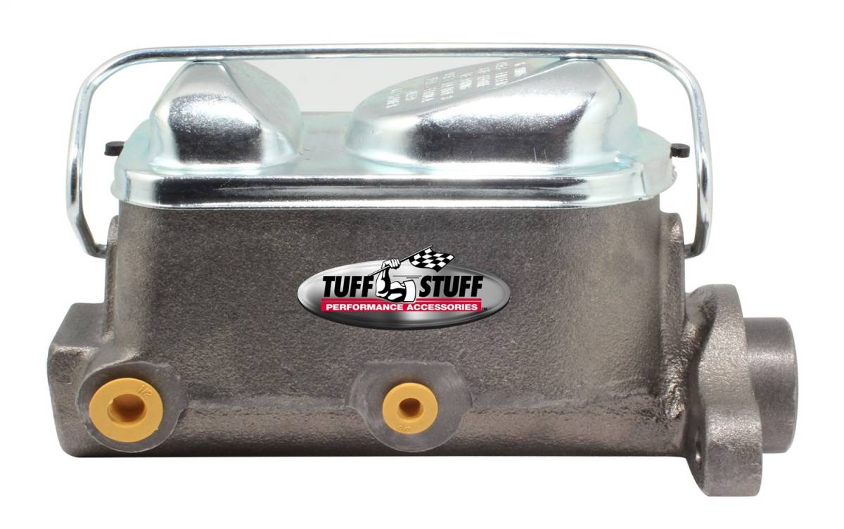 Tuff Stuff Performance - Brake Master Cylinder Dual Reservoir 1 in. Bore 3/8 in-24 And 1/2 in.-20 Ports 3 1/8 in. Mounting Hole Spacing As Cast 2017NB