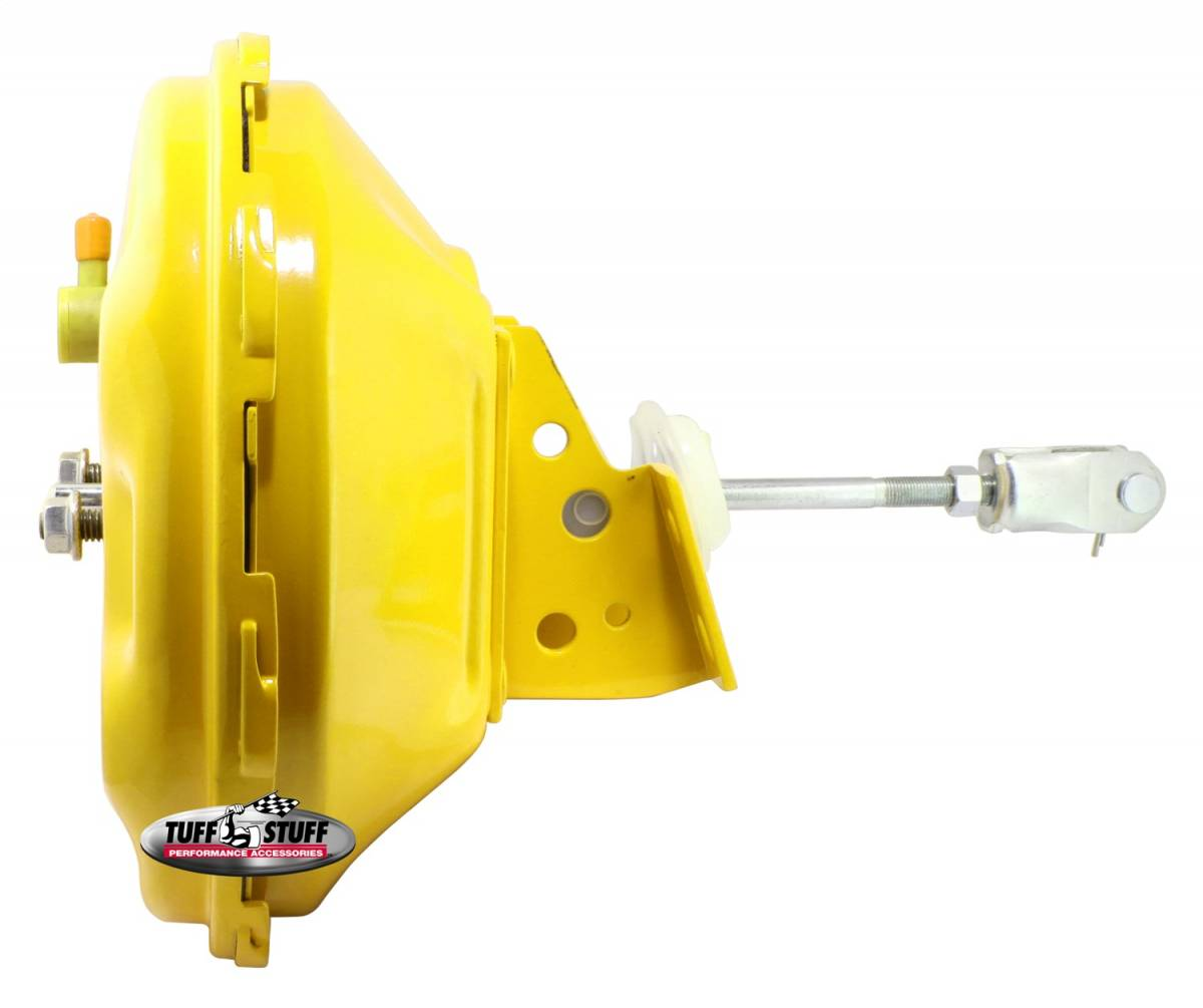 Tuff Stuff Performance - Power Brake Booster Univ. 11 in. Single Diaphragm Incl. 3/8 in.-16 Mtg. Studs And Nuts Fits Hot Rods/Customs/Muscle Cars Yellow Powdercoat 2227NBYELLOW