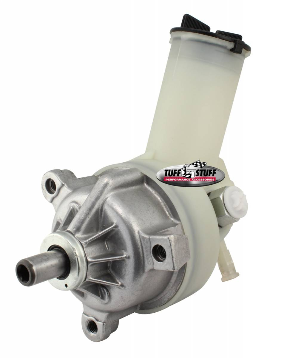 Tuff Stuff Performance - Ford Power Steering Pump New w/Plastic Reservoir Requires Press-On Pulley [Not Included] [3] Threaded Hole Mounts As Cast 6168N