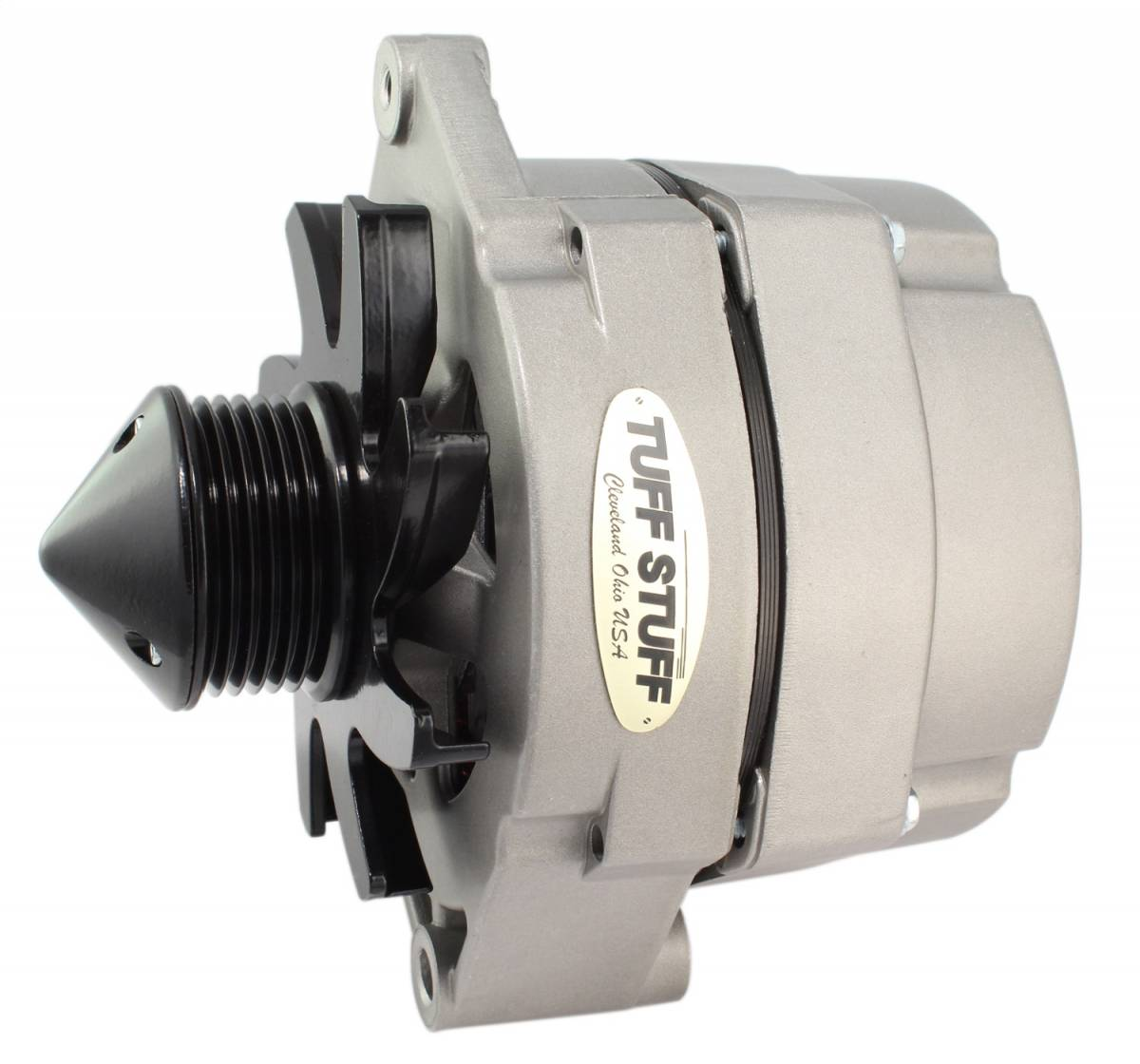 Tuff Stuff Performance - Alternator 100 AMP OEM OR 1 Wire 6 Groove Pulley Factory Cast PLUS+ 7127DBULL6G