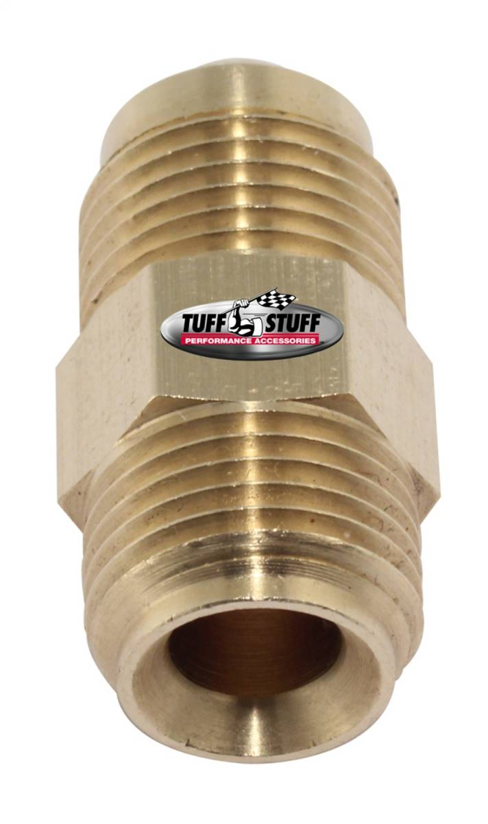 Tuff Stuff Performance - Power Steering Hose Fitting 3/8 in. (5/8-18) Male Inverted Flare x 3/8 in. (5/8-18) Male SAE Flare Saginaw Pumps 5557