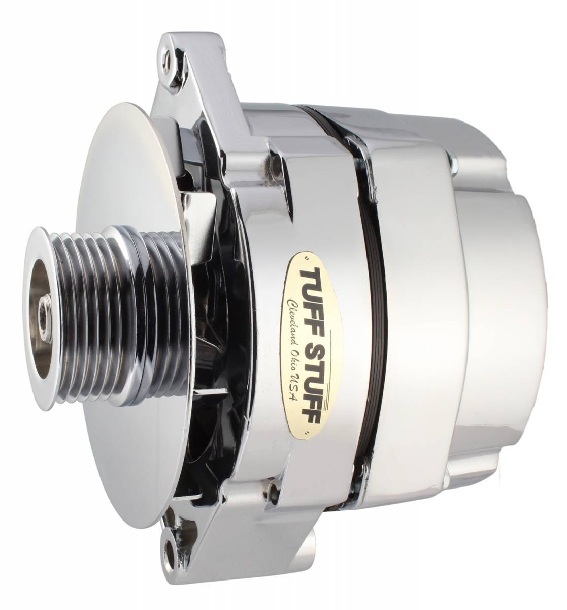 Tuff Stuff Performance - Alternator 100 AMP OEM Or 1 Wire 6 Groove Serpentine Pulley Chrome 7127ND6G