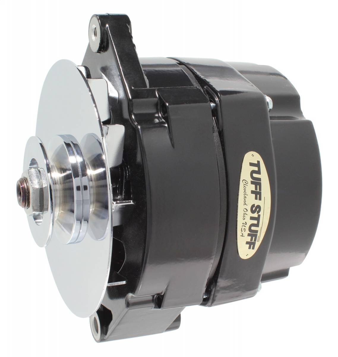 Tuff Stuff Performance - Alternator 80 AMP OEM Wire 10si Case V Groove Pulley External Regulator Black Must Be Used With An External Solid State Voltage Regulator 7102NF