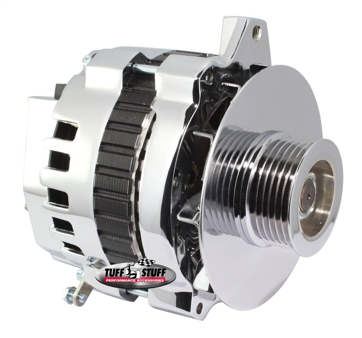 Tuff Stuff Performance - Alternator 105 AMP 1 Wire Or OEM 6 Groove Pulley Polished 7860DP6G