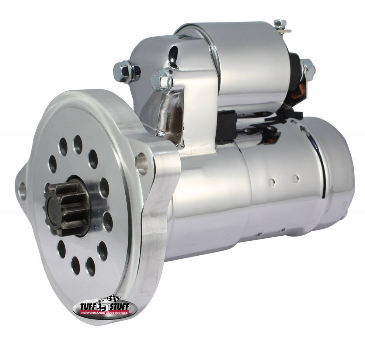 Tuff Stuff Performance - Gear Reduction Starter 1.6 KW Motor 2 Bolt Straight Mounting Indexable Chrome 6551A
