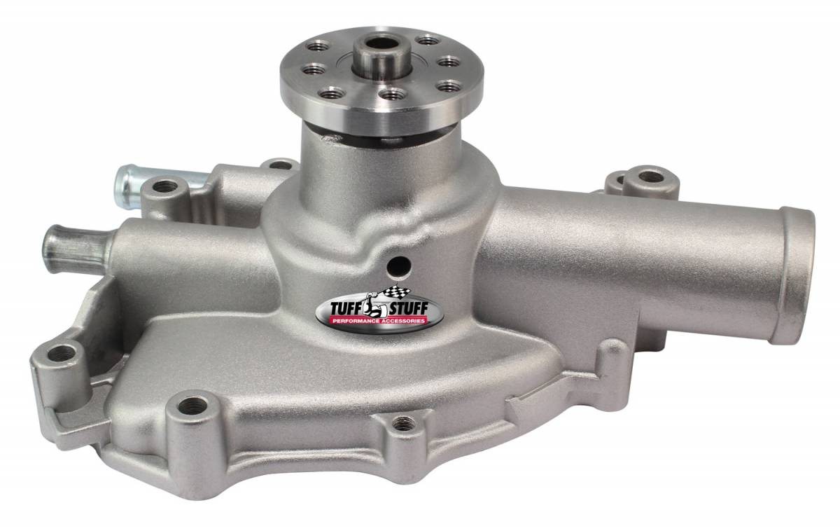 Tuff Stuff Performance - Platinum SuperCool Water Pump 4.312 in. Hub Height 3/4 in. Pilot Shorty Aluminum Casting Factory Cast PLUS+ Driver Side Inlet 1625NJ