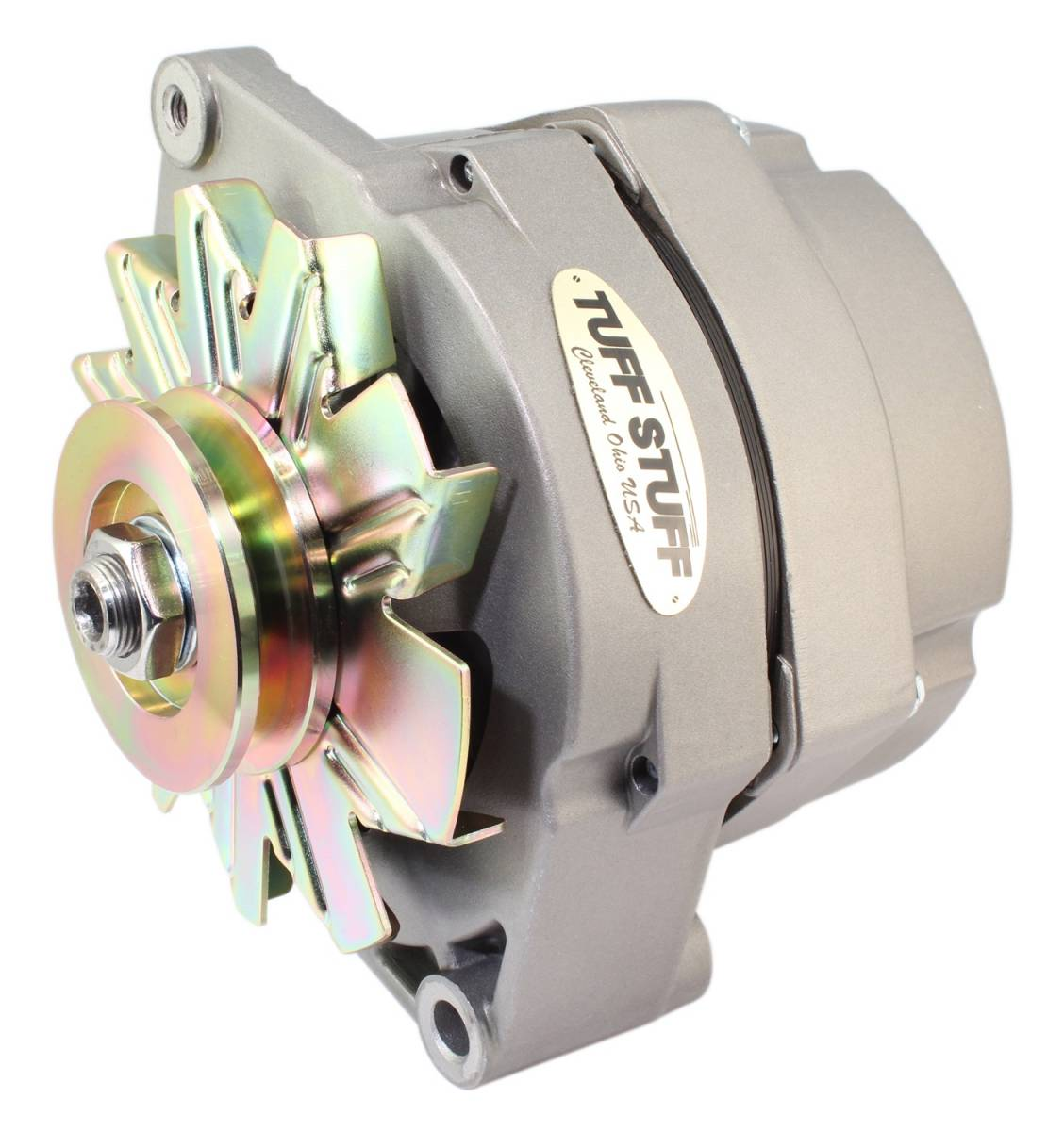 Tuff Stuff Performance - Alternator 80 AMP OEM Wire V Groove Pulley External Regulator Factory Cast PLUS+ Must Be Used With An External Solid State Voltage Regulator 7102