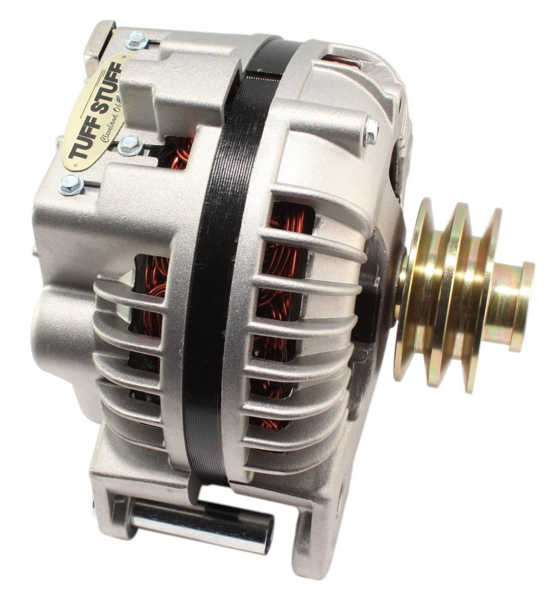 Tuff Stuff Performance - Alternator 100 AMP 1 Wire Double Groove Pulley Factory Cast PLUS+ 8509DDP