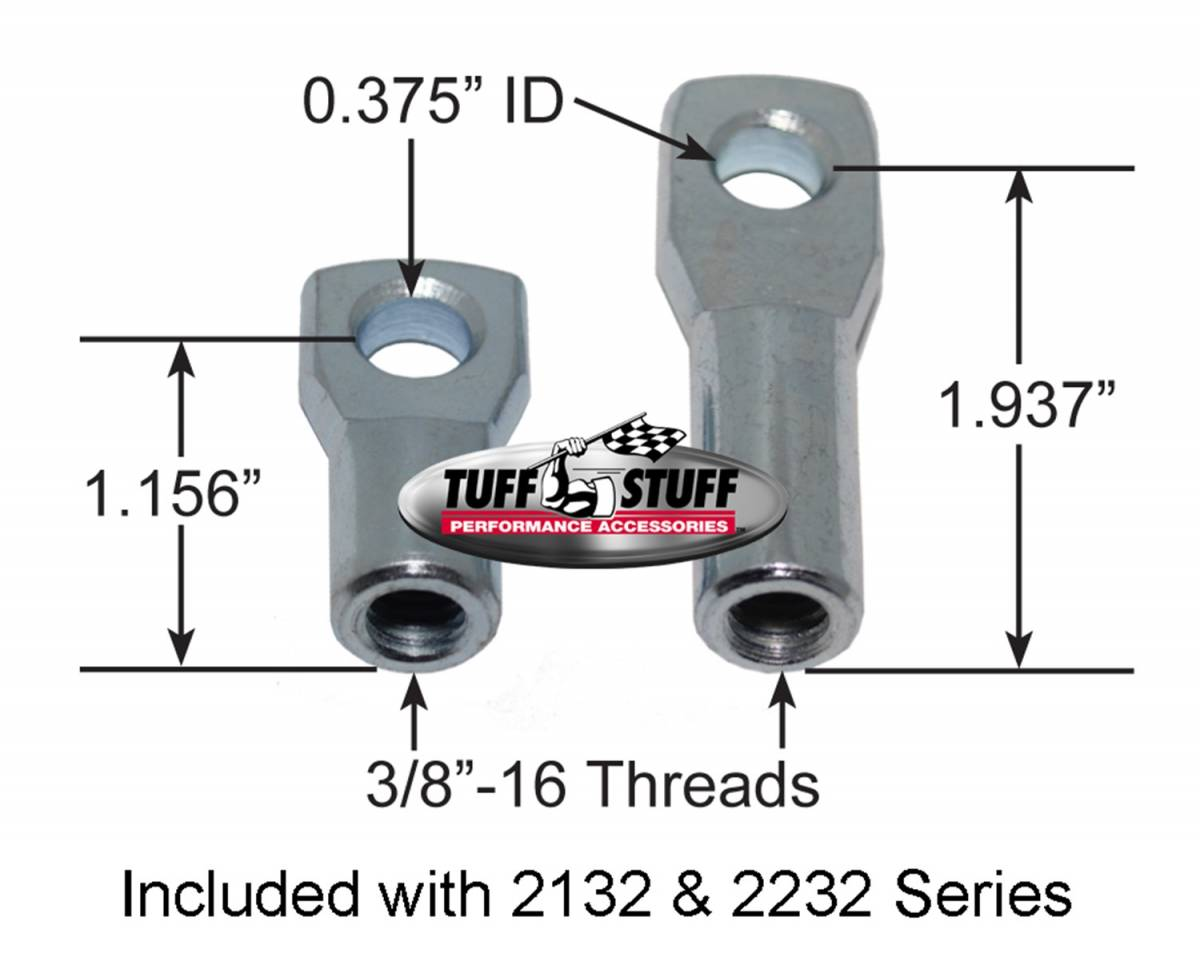 Tuff Stuff Performance - Brake Booster w/Master Cylinder 11 in. 1 in. Bore Dual Diaphragm w/PN[2018] Dual Rsvr. Master Cyl. 10x1.5 Metric Studs 3/8 in.-16 Pedal Rod Threads Chrome 2132NA-2