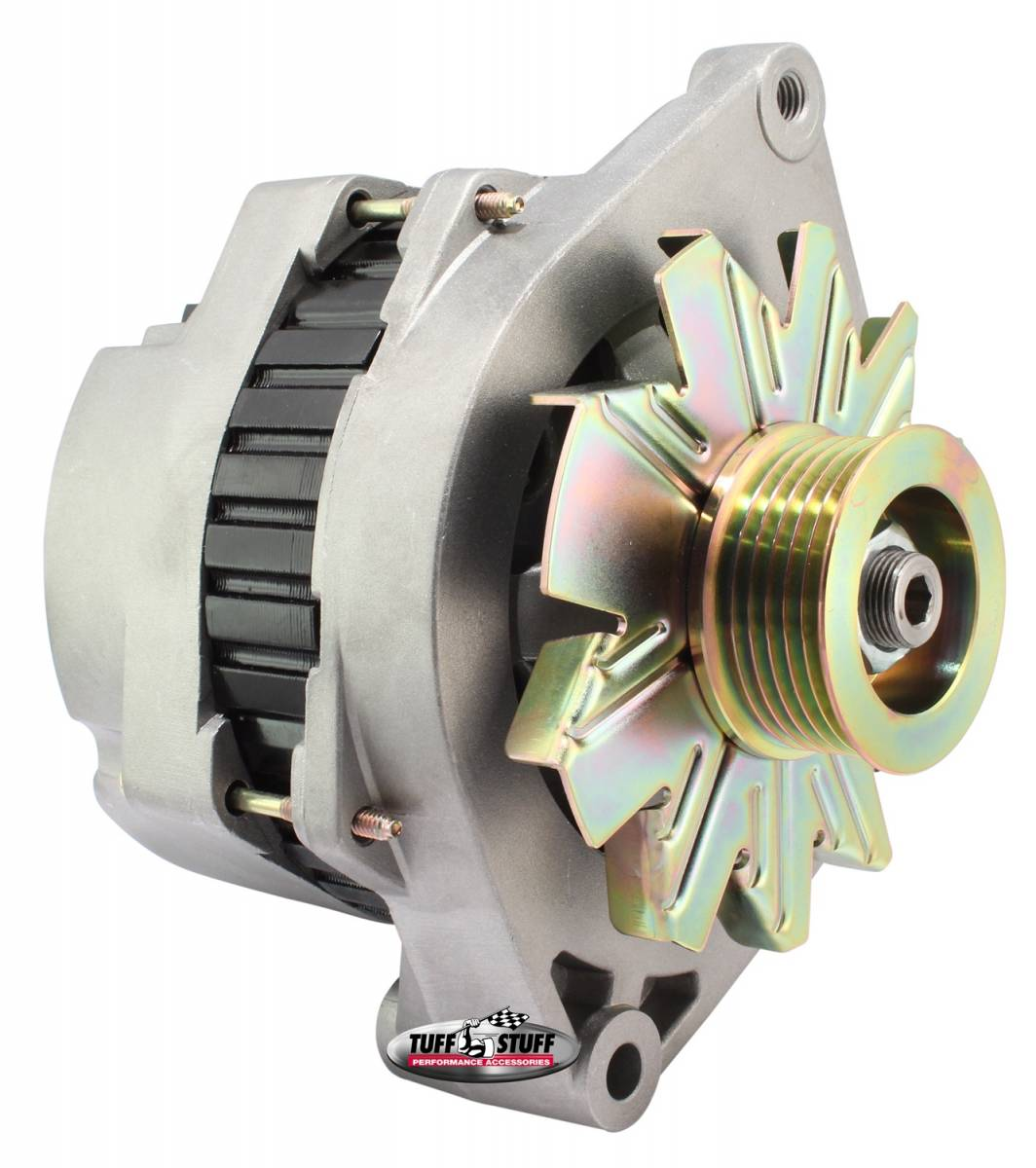 Tuff Stuff Performance - Alternator 170 AMP Incl. Pigtail/OEM Wiring 6 Groove Pulley Factory Cast PLUS+ 7290NC6G