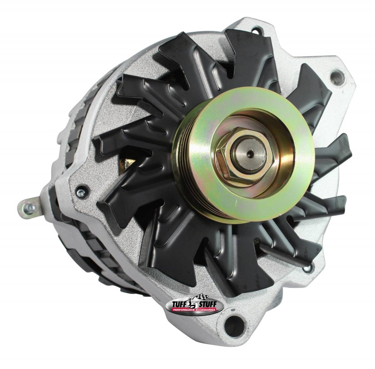 Tuff Stuff Performance - Alternator 105 AMP 1 Wire Or OEM 6 Groove Pulley Factory Cast PLUS+ 7860-16G