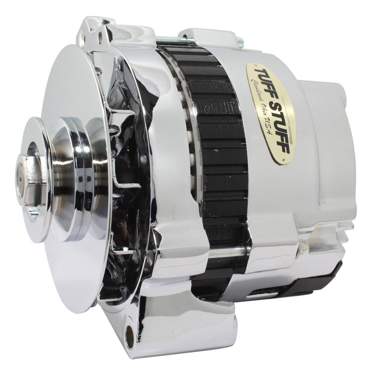 Tuff Stuff Performance - Alternator 105 AMP 1 Wire Or OEM V Groove Pulley 6.125 in. Bolt To Bolt Chrome 7866D