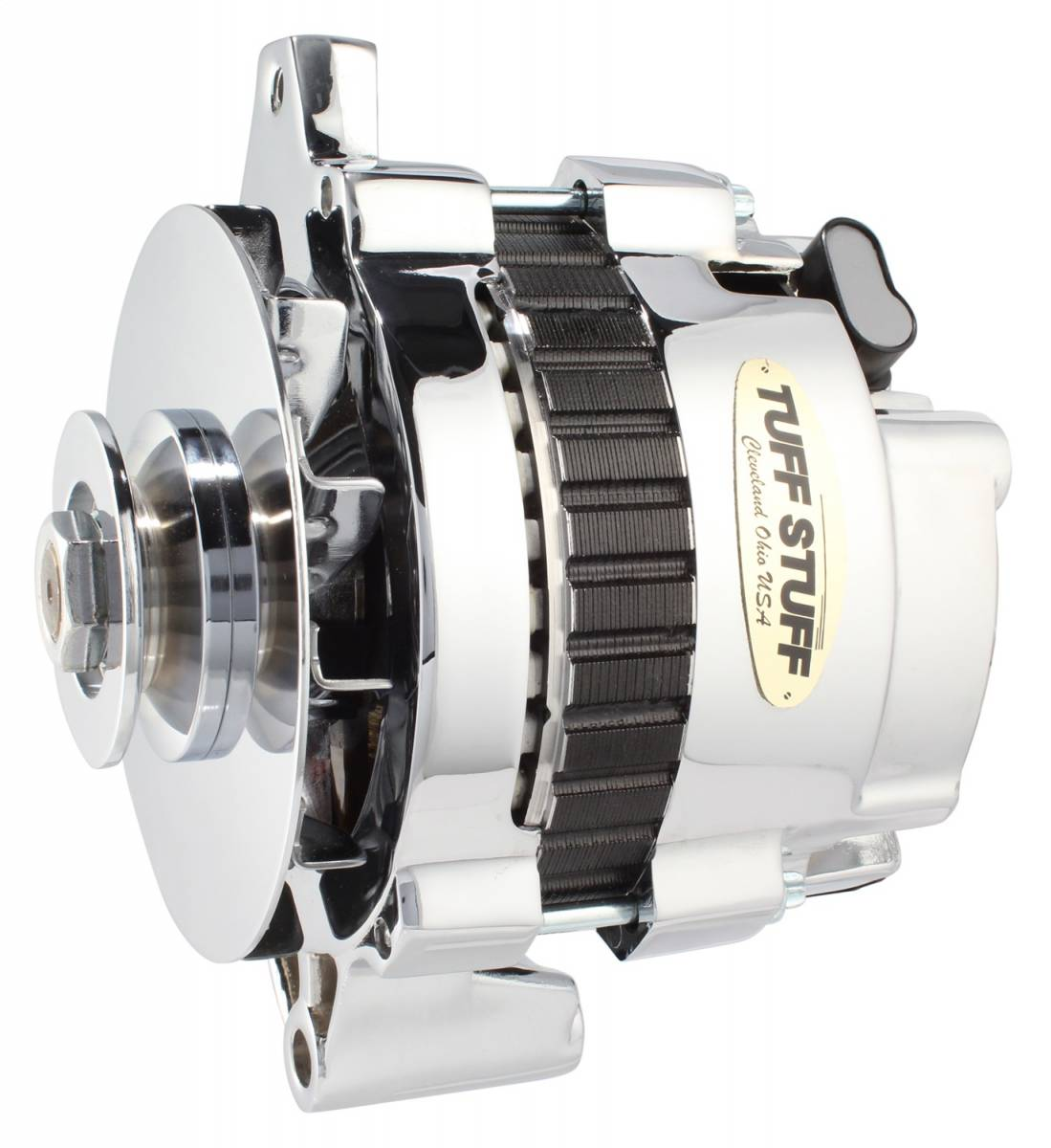 Tuff Stuff Performance - Alternator 160 AMP 1 Wire Or OEM V Groove Pulley Exceeds Rigorous Standards Polished 7935FP