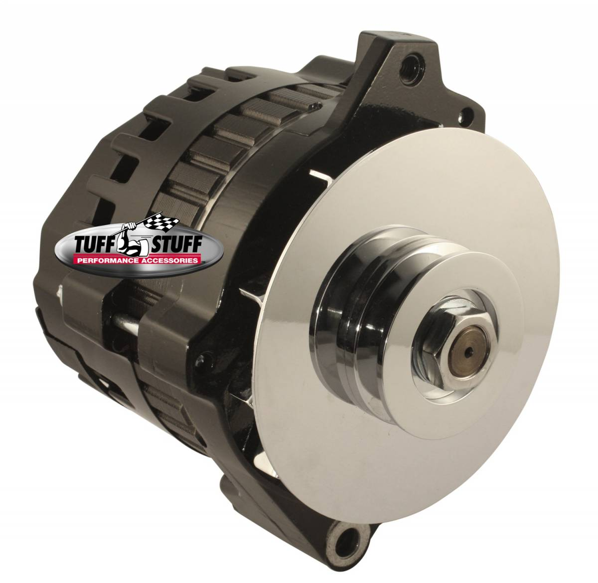 Tuff Stuff Performance - Alternator 105 AMP 1 Wire Or OEM V Groove Pulley 6.125 in. Bolt To Bolt Black 7866E