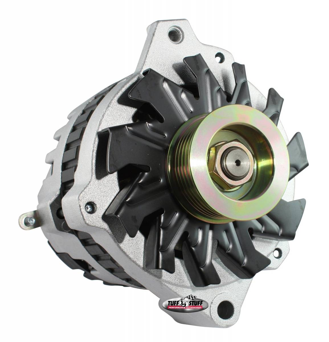 Tuff Stuff Performance - Alternator 105 AMP 1 Wire Or OEM 6 Groove Pulley 6.125 in. Bolt To Bolt Factory Cast PLUS+ 7866-16G