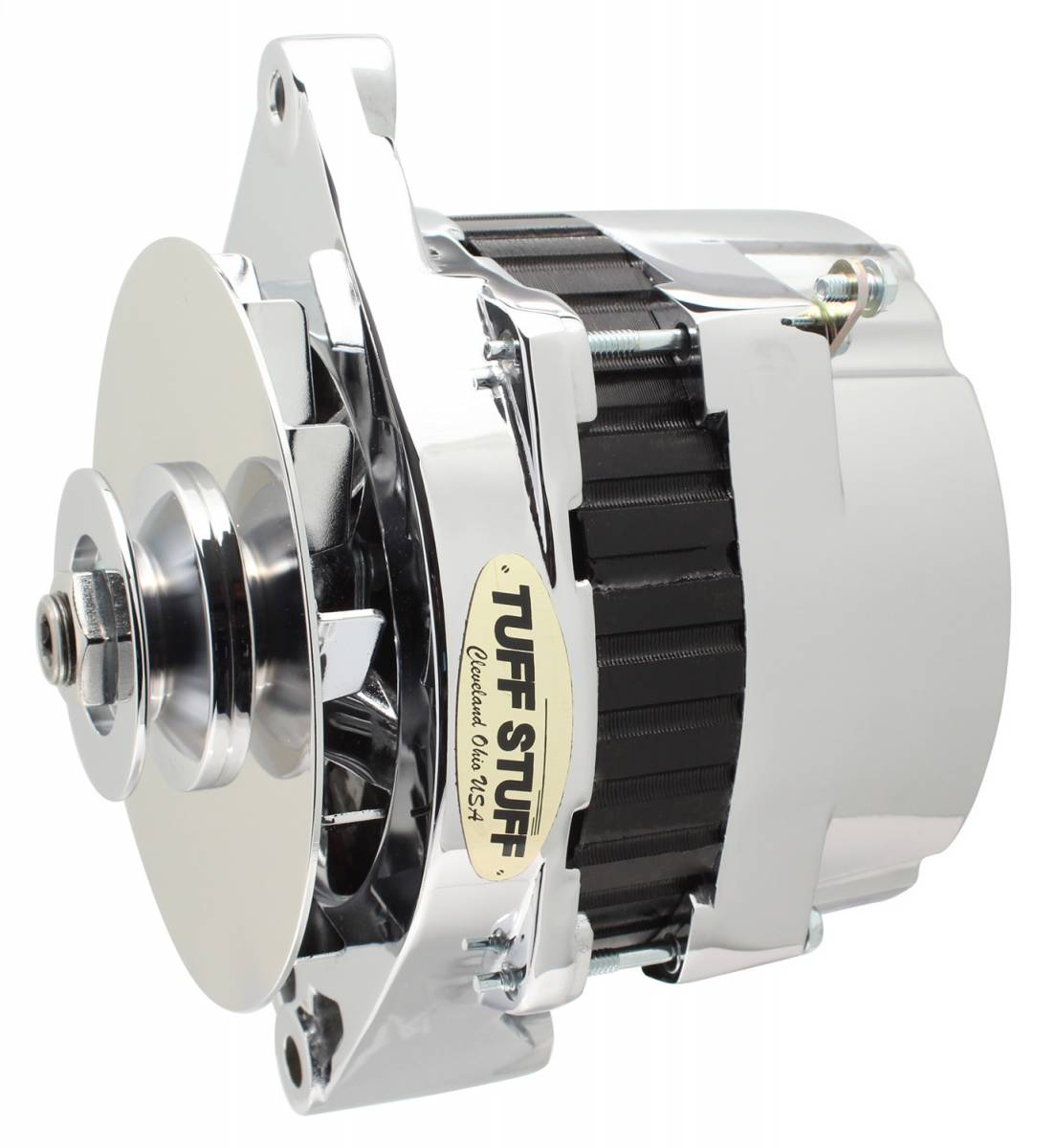 Tuff Stuff Performance - Alternator 250 High AMP Incl. Pigtail/OEM Wiring V Groove Pulley Aluminum Polished 7290NEP