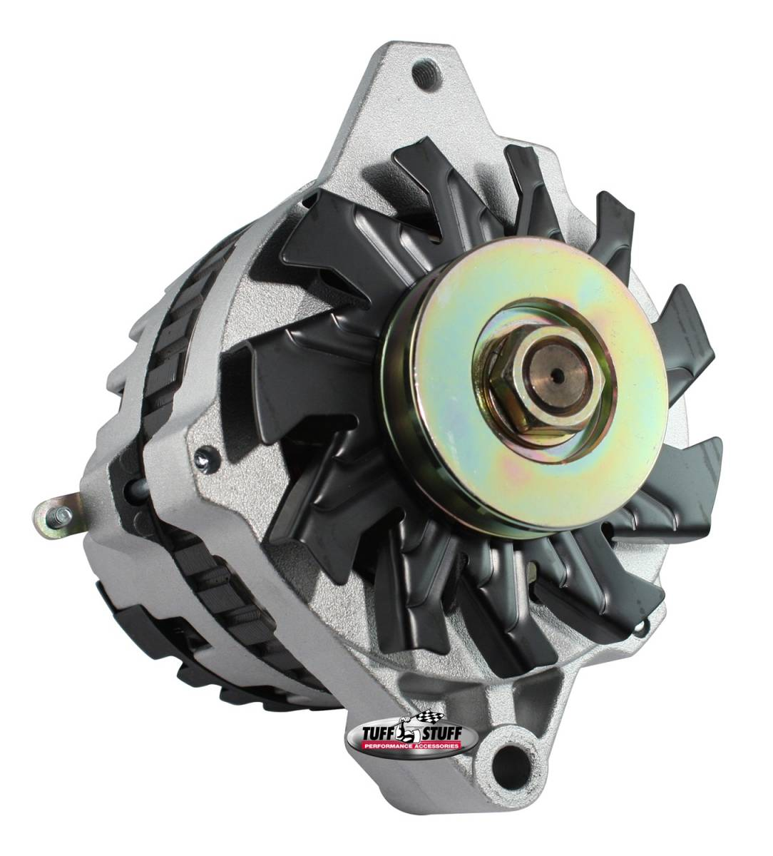 Tuff Stuff Performance - Alternator 105 AMP 1 Wire Or OEM V Groove Pulley Factory Cast PLUS+ 7935-11G