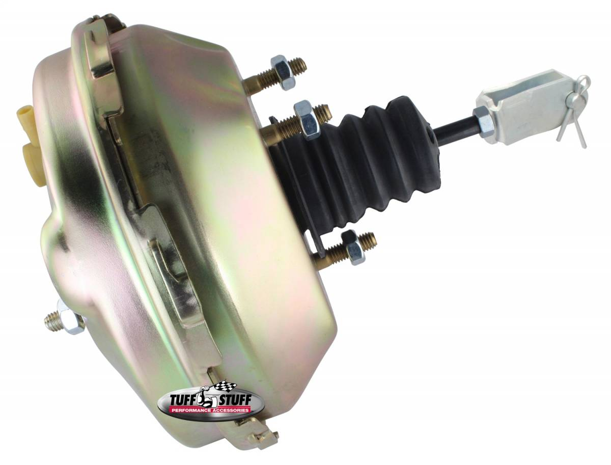 Tuff Stuff Performance - Power Brake Booster 9 in. Single Diaphragm 3/8 in.-16 Mtg. Studs And Nuts Gold Zinc 2233NB