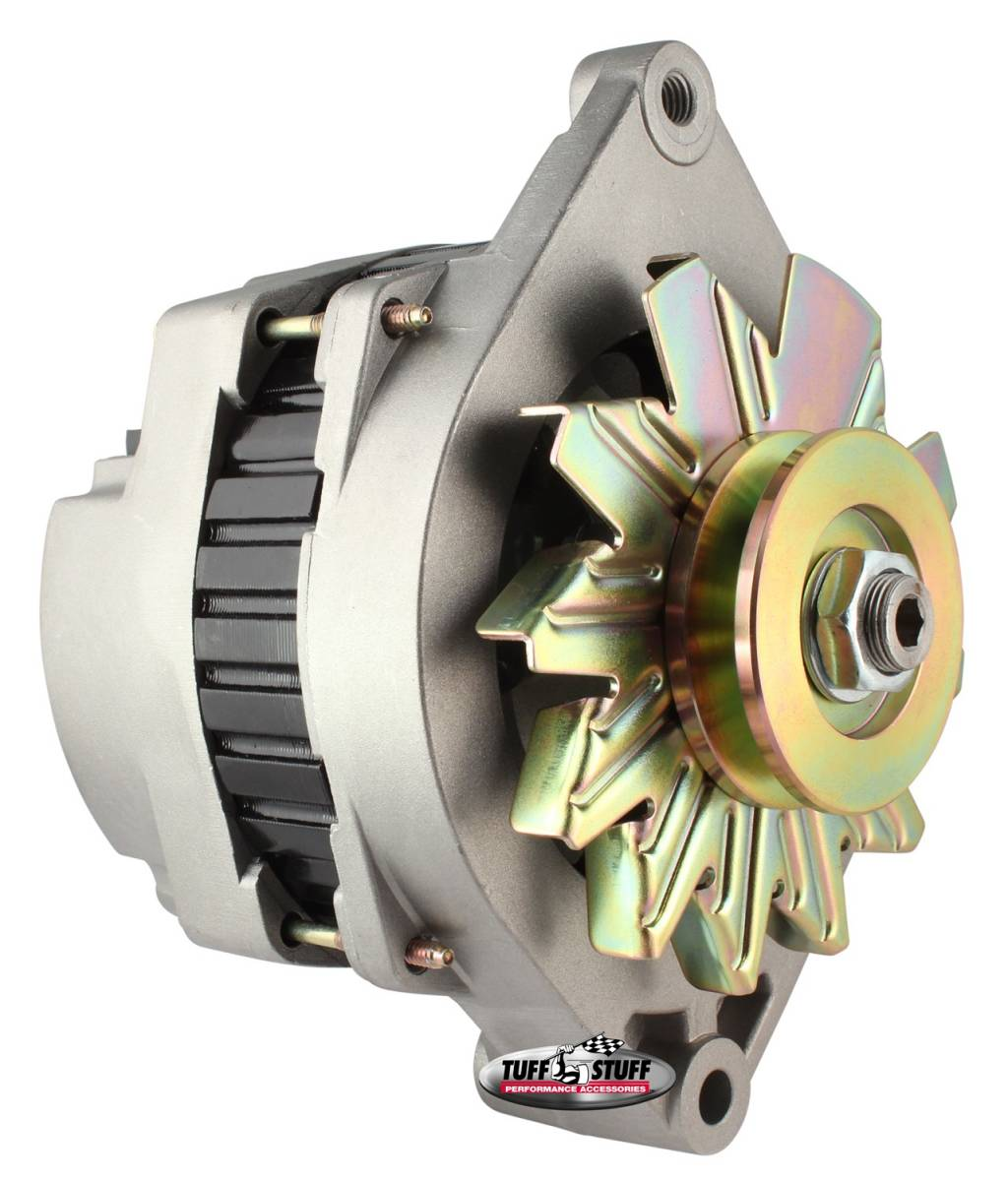 Tuff Stuff Performance - Alternator 170 AMP Incl. Pigtail/OEM Wiring V Groove Pulley Factory Cast PLUS+ 7290NC