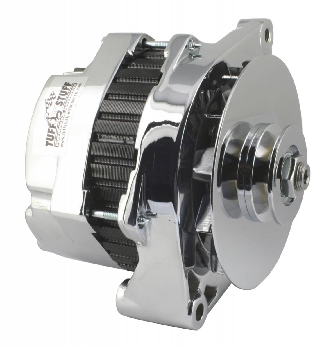 Tuff Stuff Performance - Alternator 170 AMP Incl. Pigtail/OEM Wiring V Groove Pulley Chrome 7290NA