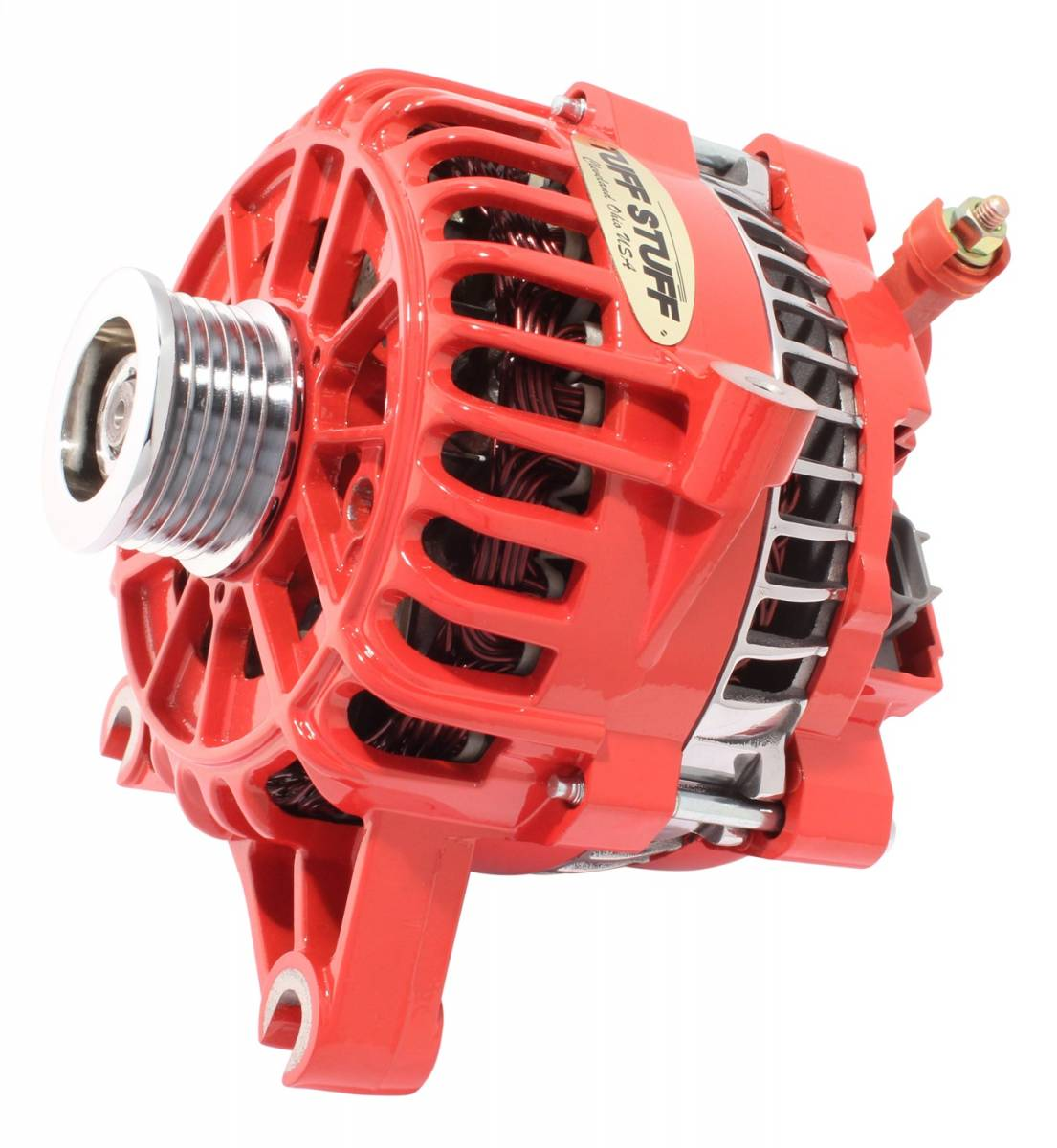 Tuff Stuff Performance - Alternator 225 AMP Upgrade OEM Wire 6 Groove Pulley Red 8252DRED