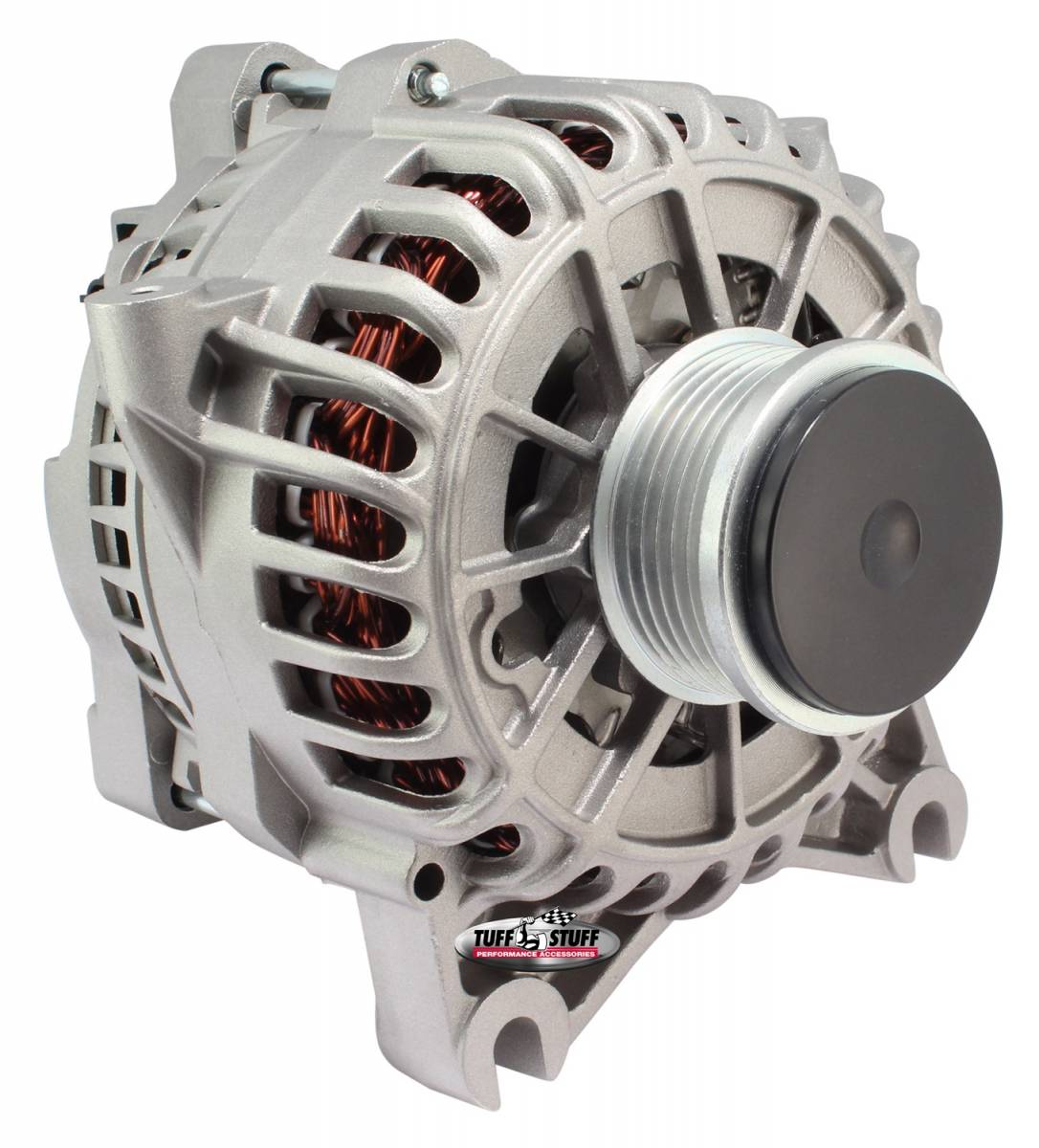 Tuff Stuff Performance - Alternator 135 AMP OEM Wire 6 Groove Clutch Pulley Spike Resistant Diode Factory Cast PLUS+ 8438E