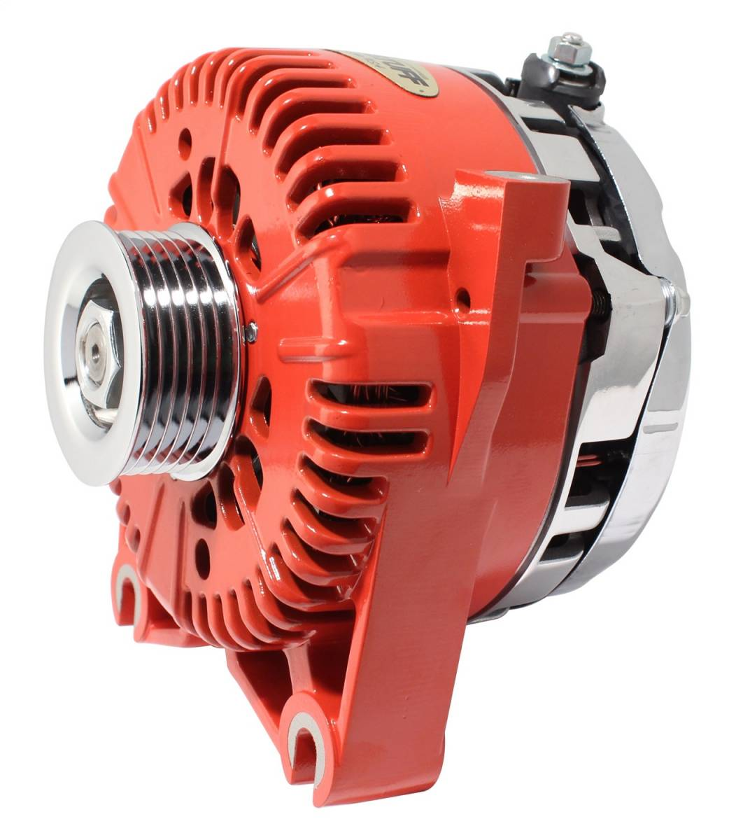 Tuff Stuff Performance - Alternator 150 AMP DOHC Applications OEM Wire 6 Groove Pulley Internal Regulator Red 7781ARED