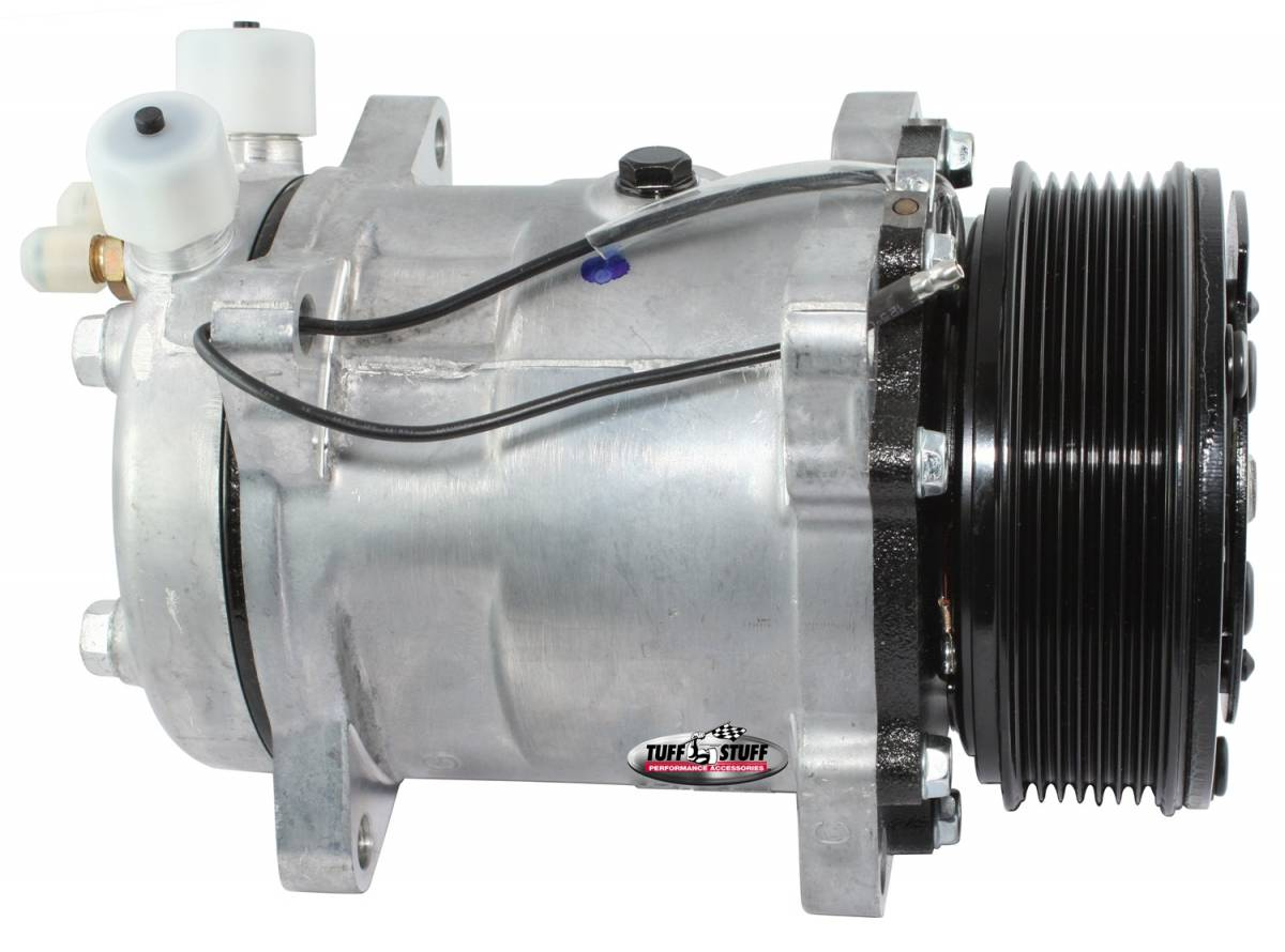 Tuff Stuff Performance - Sanden Style SD508 A/C Compressor R12 Series 6 Grove Pulley Factory Cast PLUS+ 4505NC6G