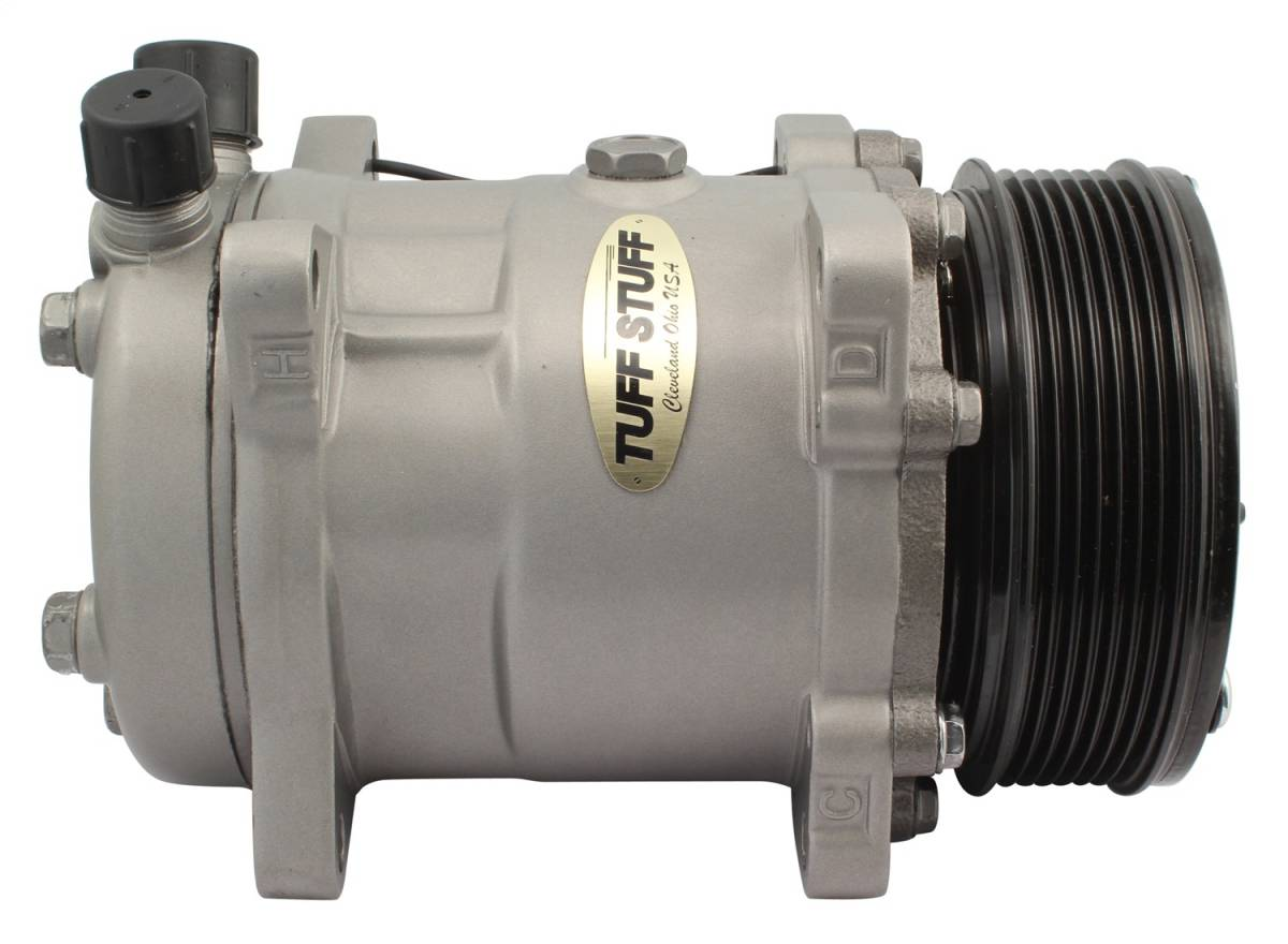 Tuff Stuff Performance - Sanden Style SD508 A/C Compressor R134A Series 6 Groove Pulley Factory Cast PLUS+ 4515NC6G