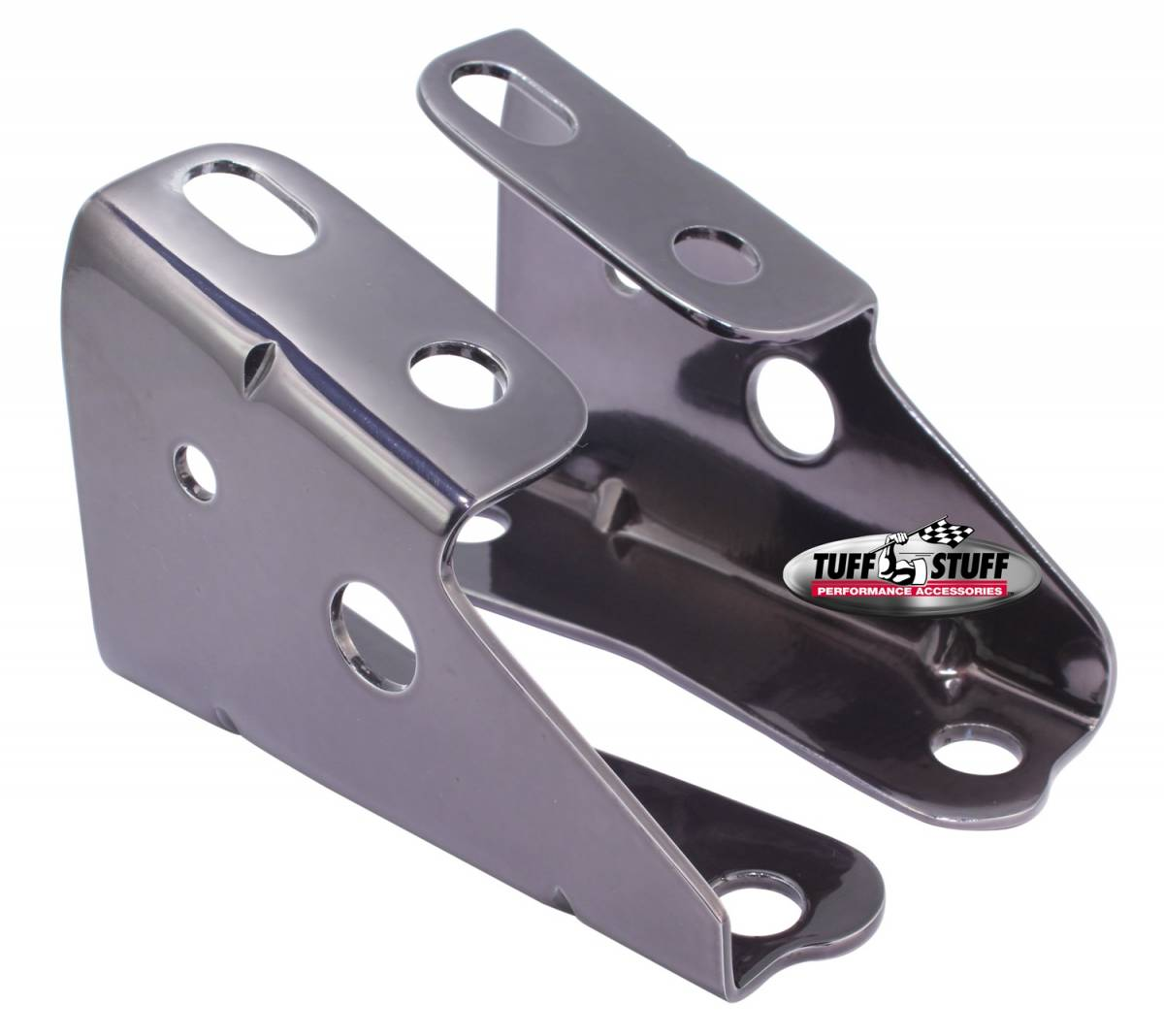 Tuff Stuff Performance - Brake Booster Brackets Incl. Left And Right Side 1967-1972 GM For Brake Booster PN[2121/2122/2123/2124/2129/2221/2222/2223/2224/2228/2229/2231] Black Chrome 4650A7