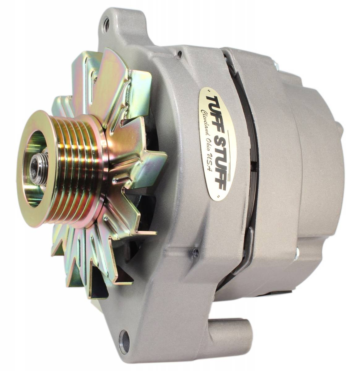Tuff Stuff Performance - Alternator 100 AMP Smooth Back 1 Wire 6 Grove Pulley Factory Cast PLUS+ 70686G