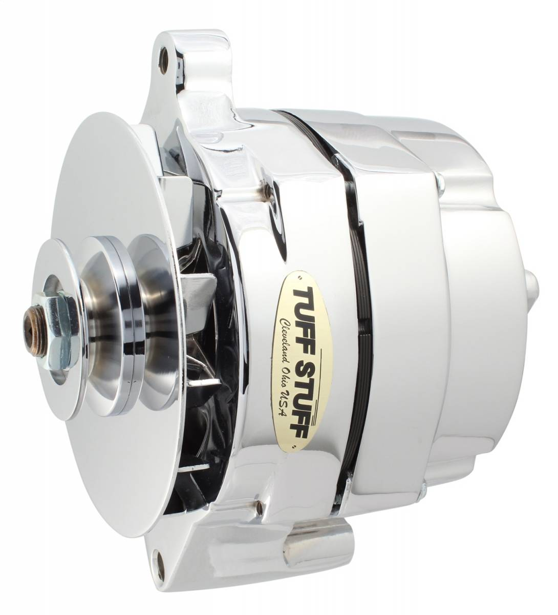 Tuff Stuff Performance - Alternator 100 AMP Smooth Back 1 Wire V Groove Pulley Polished 7068RDP