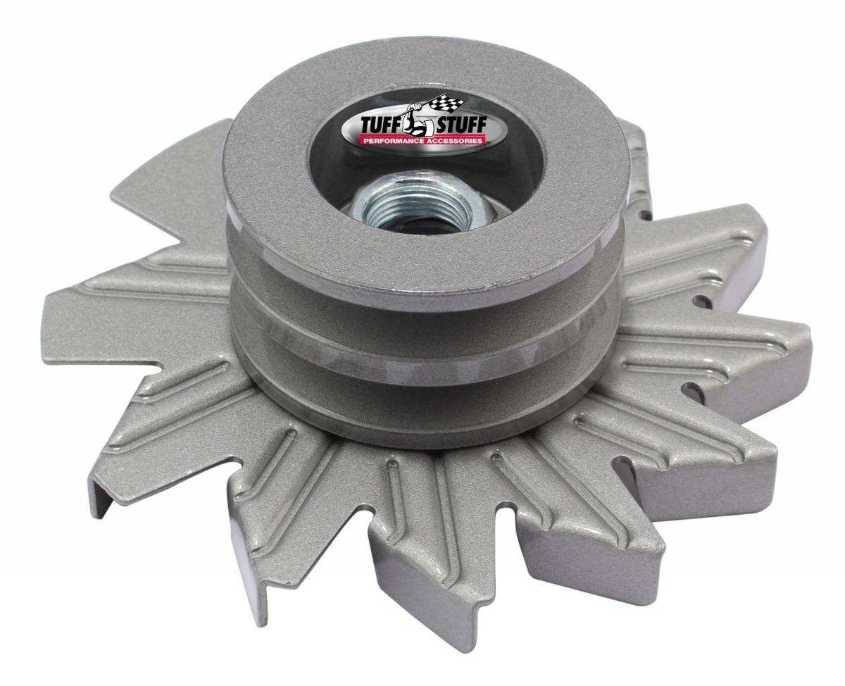 Tuff Stuff Performance - Alternator Fan And Pulley Combo 2.628 in. Double V Groove Pulley Incl. Fan/Lock Washer/Nut As Cast 7600BC