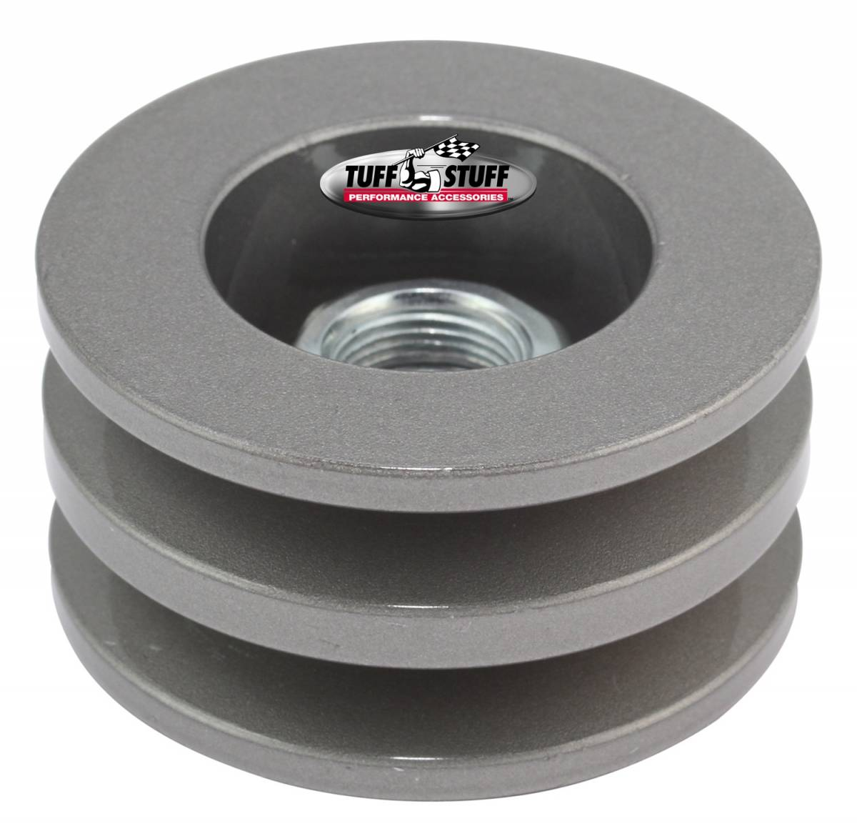 Tuff Stuff Performance - Alternator Pulley 2.628 in. Double V Groove Incl. Lock Washer/Nut As Cast 7610FC