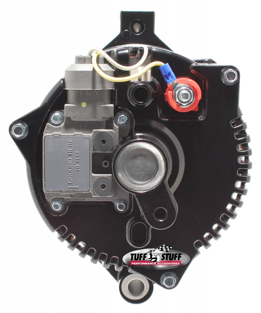 Tuff Stuff Performance - Alternator 150 AMP 1 Wire 6G Groove Pulley Internal Regulator Stealth Black For Use In Ford 5.0L Models 7771BW6G