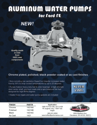 Aluminumm Water Pumps - Ford FE