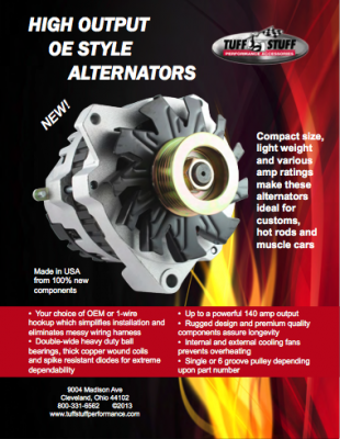 High Output OE Style Alternators