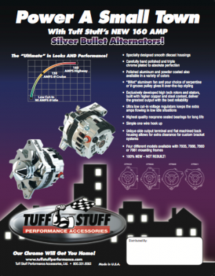 New 160 Amp Silver Bullet Alternator