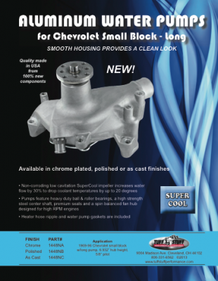 Aluminumm Water Pumps - For Chevy Small Block - Long