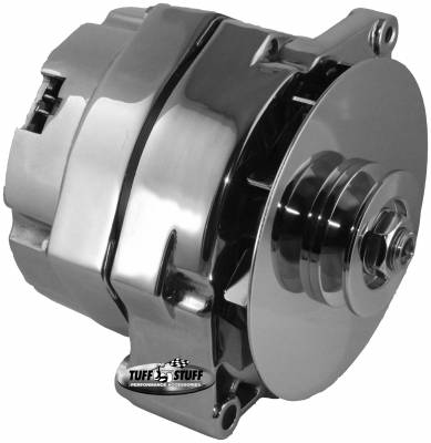 Alternator - 1963-1970 (10DN) - Tuff Stuff Performance - Alternator 80 AMP OEM Wire V Groove Pulley External Regulator Chrome Must Be Used With An External Solid State Voltage Regulator 7102NA