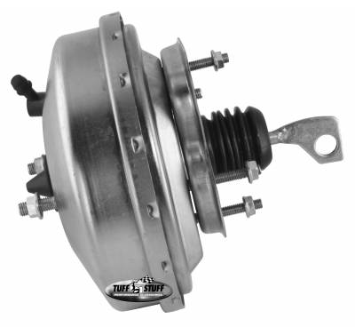 Braking - Power Brake Combos - Tuff Stuff Performance - Brake Booster w/Master Cylinder 9 in. 1 1/8 in. Bore Single Diaphragm w/PN[2071] Dual Rsvr. Master Cyl. Incl. (5) 3/8 in.-16 Studs-1 Is Offset Gold Zinc 2125NB