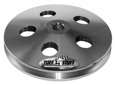 Power Steering Pump - Accessories - Tuff Stuff Performance - Power Steering Pump Pulley Bolt On Fits Tuff Stuff PN[6174/6176/6183] Power Steering Pumps w/Keyed Shaft Incl. Flat Washer Machined Aluminum Chrome 8488A
