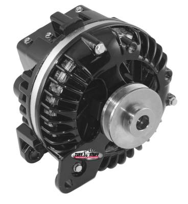 Chrysler 1960-1988 - 1-Wire - Tuff Stuff Performance - Alternator 100 AMP 1 Wire Single Groove Pulley Black 8509RESP